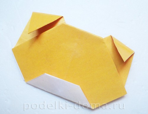 закладка из бумаги собачка 09