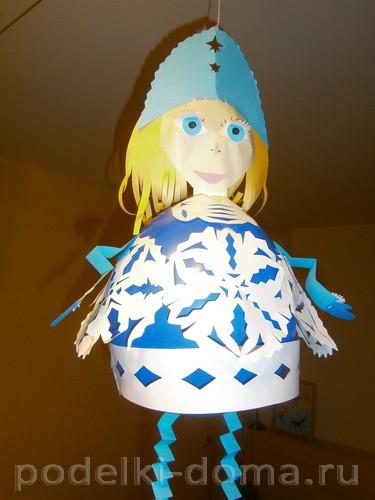 Снегурочка из шара и бумаги