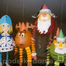 Новогодние украшения из воздушных шаров