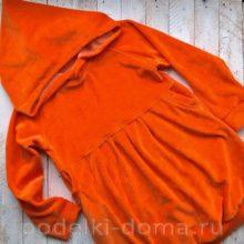 Костюм морковки для девочки (шитье)