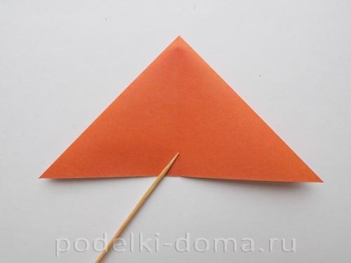 лилия из бумаги оригами 05