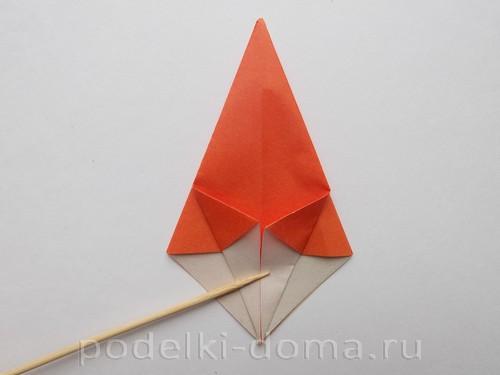 лилия из бумаги оригами 08