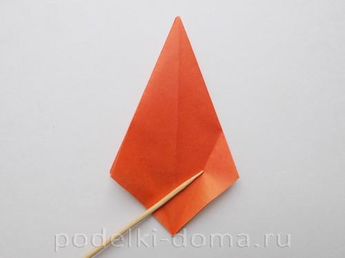 лилия из бумаги оригами 09