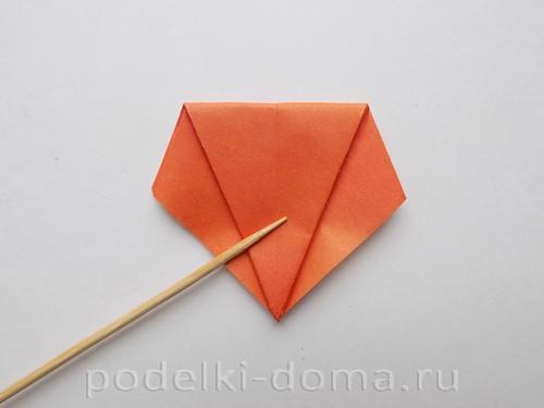 лилия из бумаги оригами 10
