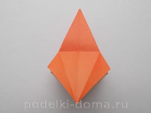 лилия из бумаги оригами 11