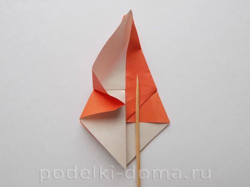 лилия из бумаги оригами 12