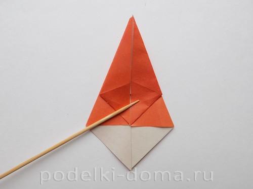 лилия из бумаги оригами 13