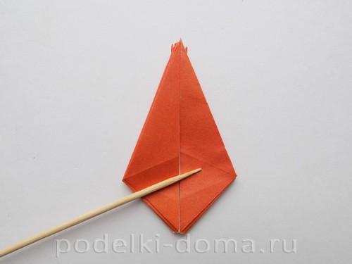 лилия из бумаги оригами 14