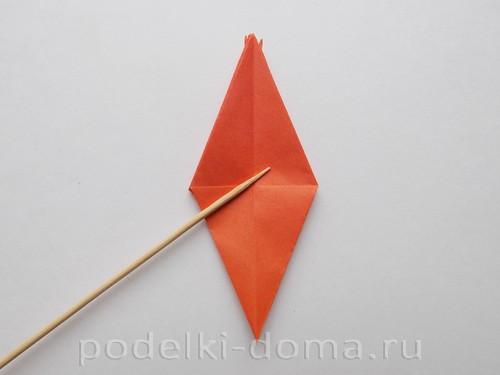 лилия из бумаги оригами 15