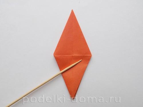 лилия из бумаги оригами 16