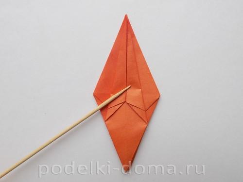лилия из бумаги оригами 17