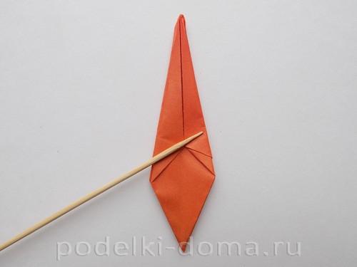 лилия из бумаги оригами 18