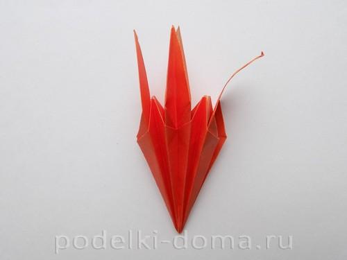 лилия из бумаги оригами 19