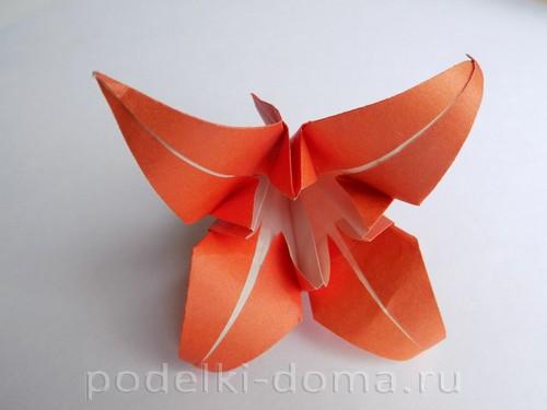 лилия из бумаги оригами 20