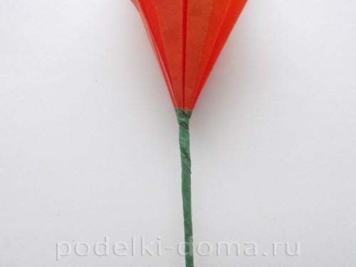 лилия из бумаги оригами 23