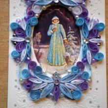 Новогодняя открытка «Снегурочка» и волшебный румбокс