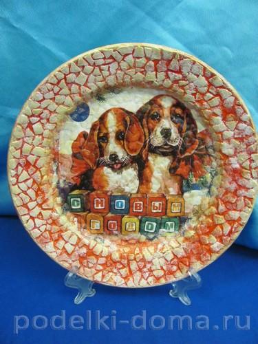 декупаж тарелки собачки 12