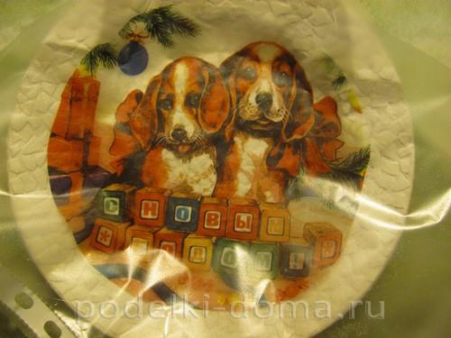 декупаж тарелки собачки 7