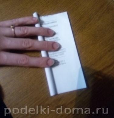 домик из бумажных трубочек 1