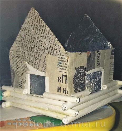 домик из бумажных трубочек 3