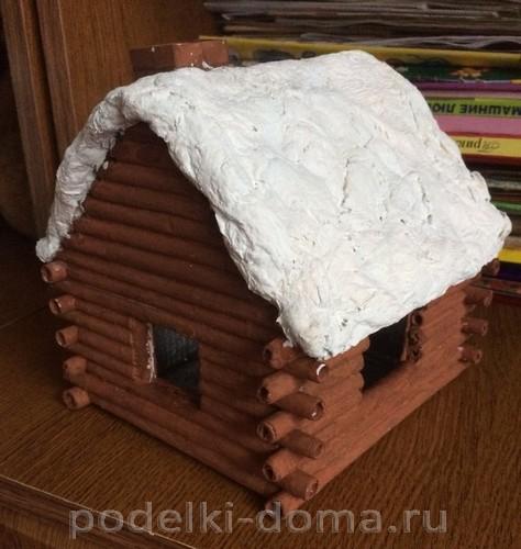 домик из бумажных трубочек 4
