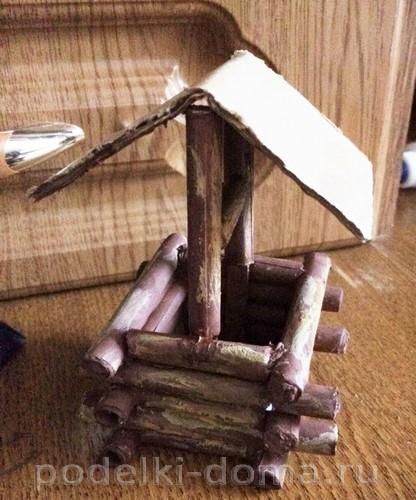 домик из бумажных трубочек 7