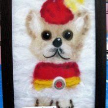 Картины из шерсти «Собачка Кнопа» и «В ожидании чуда»