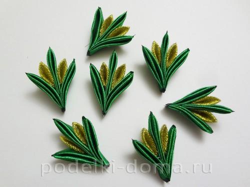резиночки канзаши новогодние 10