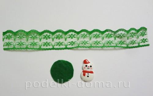 резиночки канзаши новогодние 11