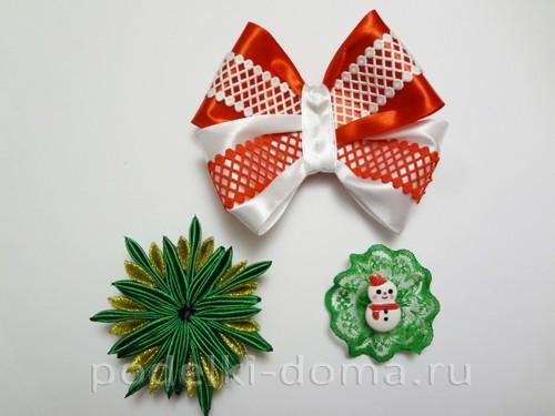 резиночки канзаши новогодние 12