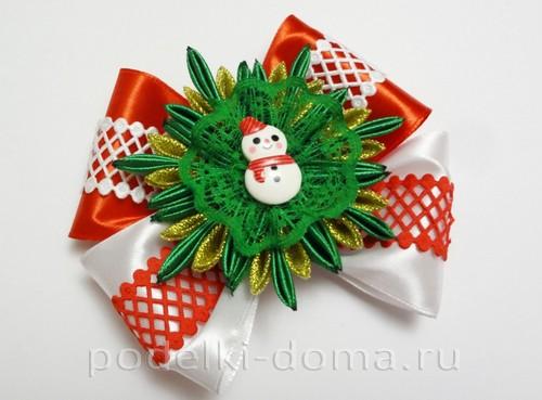 резиночки канзаши новогодние 13