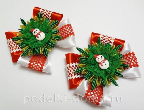 резиночки канзаши новогодние 14