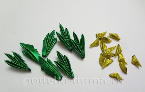 резиночки канзаши новогодние 9