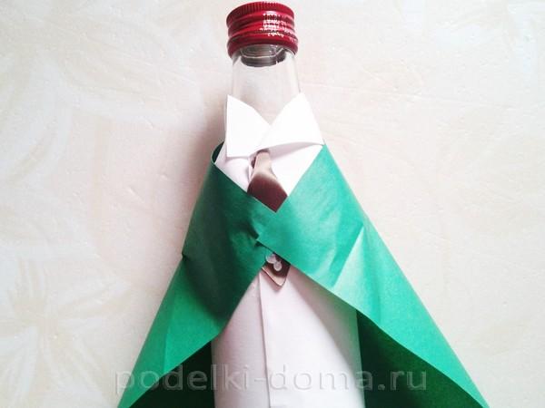 форма для бутылки из бумаги 08