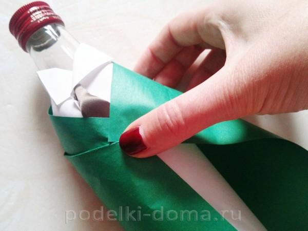 форма для бутылки из бумаги 09