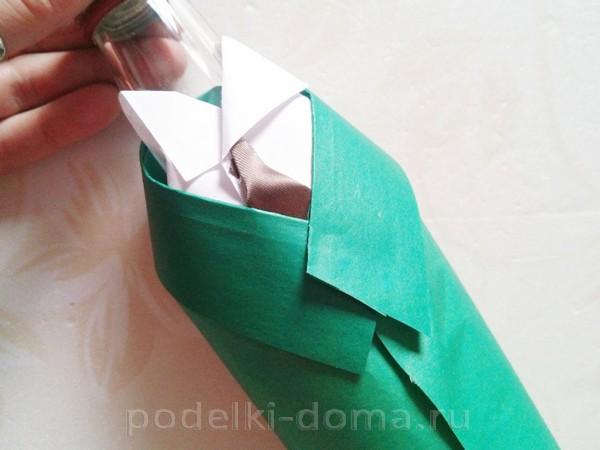 форма для бутылки из бумаги 12