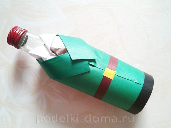 форма для бутылки из бумаги 14