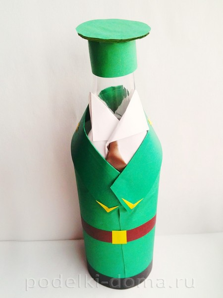 форма для бутылки из бумаги 21