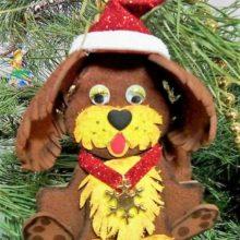 Собачки из фоамирана: елочная игрушка и сувенир-шкатулка