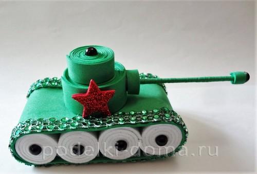 танк поделка 12