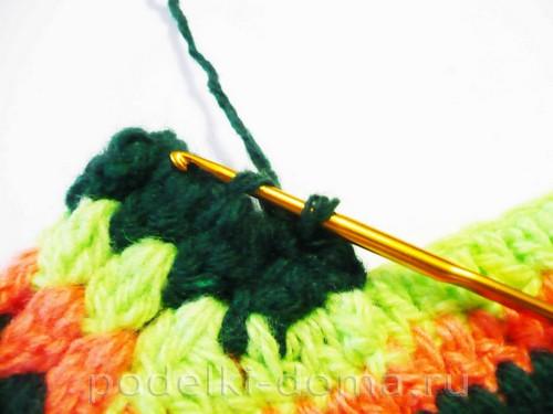 вязаные тапки мокасины Фото 3028