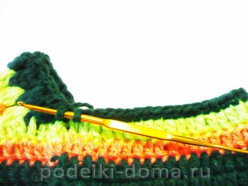 вязаные тапки мокасины Фото 3129