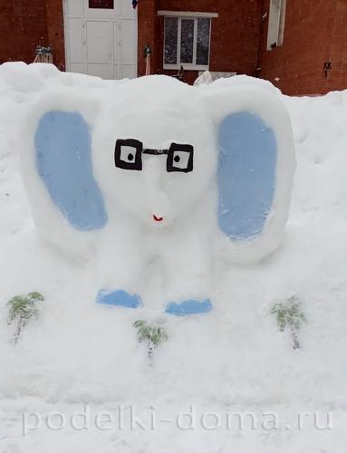 Новые снежные постройки для детского сада