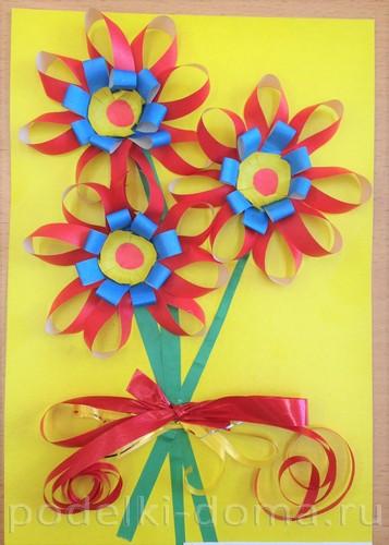 Zbukareva-Mariya цветы из полосок бумаги