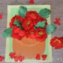 Супер-аппликации: букеты цветов из бумаги. 4 мастер-класса
