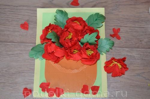 бумажные цветы пионы аппликация14