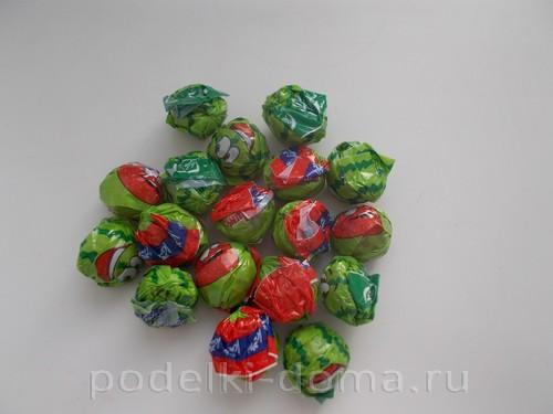 гиря из конфет 02