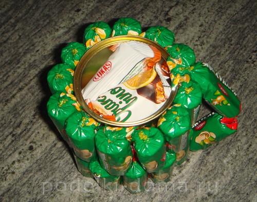 кружка из конфет 09