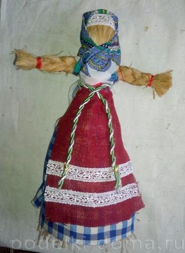 кукла масленица из лыка
