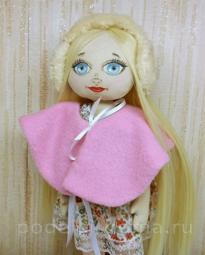 шитье меховых наушников кукле 14